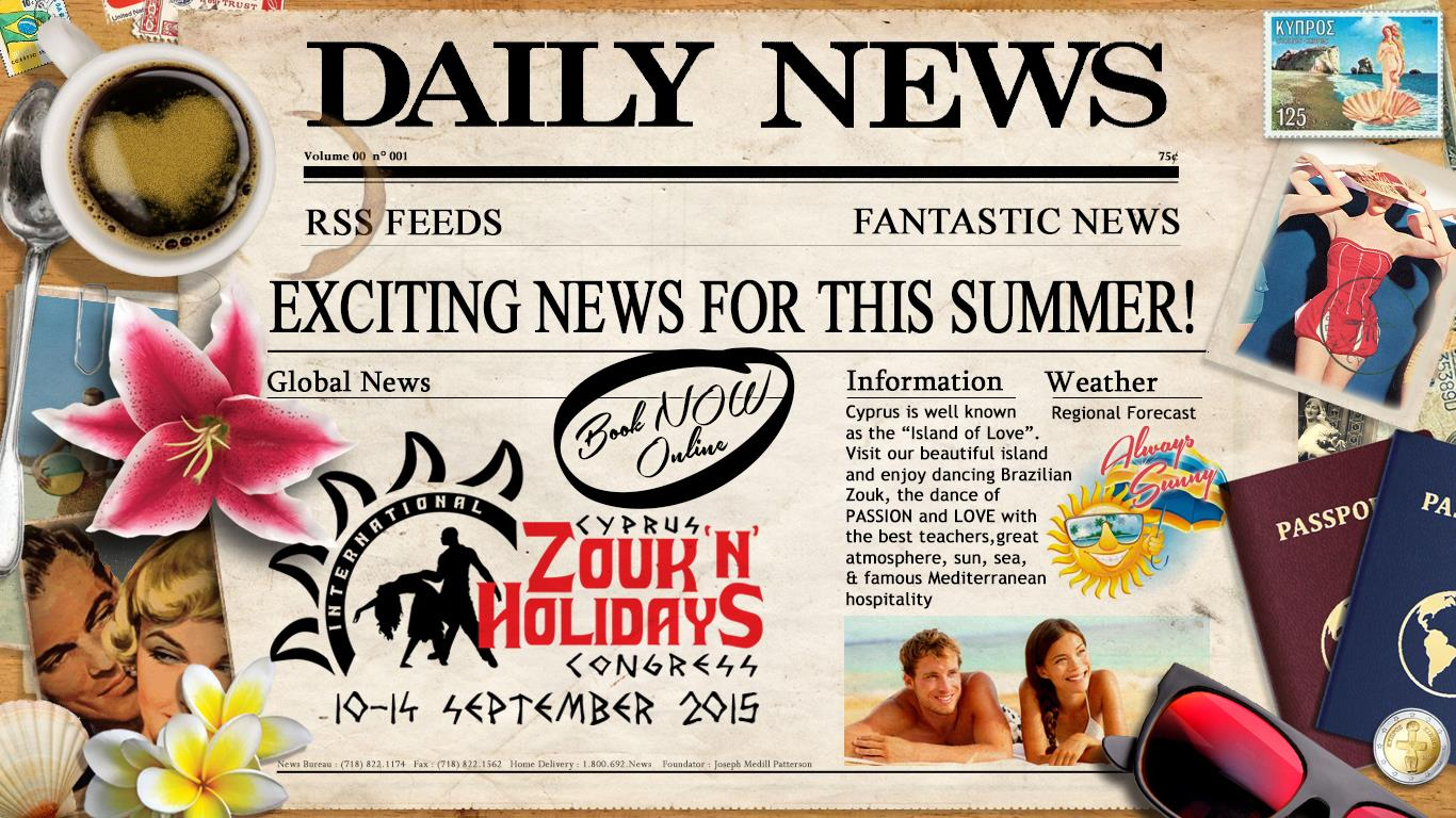 Welcome to Cyprus Zouk'n'Holiday 10-14 September 2015