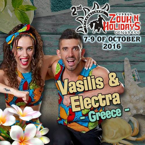 Vasilis & Electra | Kizomba Show | Greek Eliminations Africadancar 2016