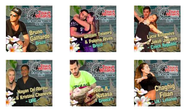 Brazilian Zouk artists, teachers and performers