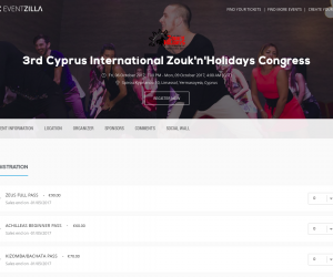 Registration to 3rd edition of Zouk'n'Holidays is open!