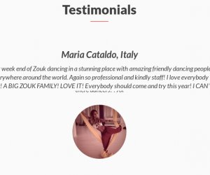 Testimonials is on live!